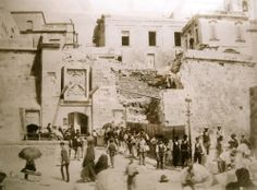 Marina Gate Demolition in Valletta Malta in 1884, to be replaced with the Victoria Gate