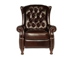 francis tufted leather wingback recliner