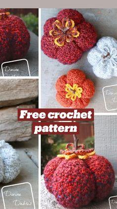 Crochet Pumpkin, Crochet Fall, Free Crochet, Crochet Cardigan Pattern, Crochet Patterns, Crochet Ideas, Thanksgiving Decorations, Crochet Hooks, Crochet Projects