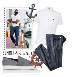 """Men summer"" by janicevc on Polyvore featuring Polo Ralph Lauren, Lanvin, men's fashion, menswear and summermenswearessentials"