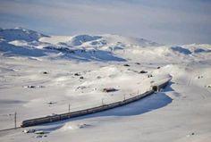 Norway train trip - winter