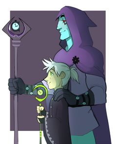 """ghost-chicky: Phanniemay day 7: TimeI like to think Clockwork would take Dani in after all he is """"father time"""""""