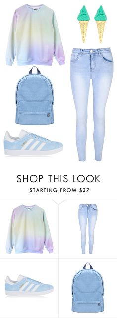 """pale set"" by evagelialove on Polyvore featuring Glamorous and adidas Originals"