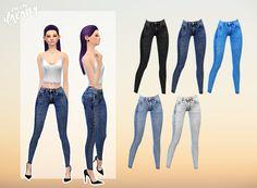 Acid denim leggings Sims 4 / Female / Teen to elder / 5 colors Found in accessories DOWNLOAD