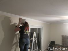 http://davewirth.blogspot.com/2013/08/family-room-drywall-trim-crown-molding.html     How to remodel a family room, drywall, baseboard and crown molding.