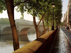Morning, Ile St. Louis - Paris, France (photo by Dennis Barloga) I could imagine my self walking down this street, holding a cup of coffee, enjoying the peace!