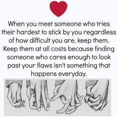 love quote: when you meet someone who tries their hardest to stick by you, find more Love Quotes on LoveIMGs. LoveIMGs is a free Images Pinboard for people to share love images. Goal Quotes, Advice Quotes, True Quotes, Humble Quotes, Sucess Quotes, Quotes Quotes, Funny Quotes, Affirmations, Good Comebacks
