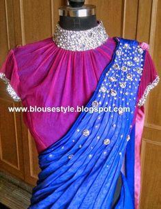 Saree Jacket Designs, Sari Blouse Designs, Saree Blouse Patterns, Blouse Styles, Blouse Models, Saree Models, Traditional Blouse Designs, Stylish Blouse Design, Collor