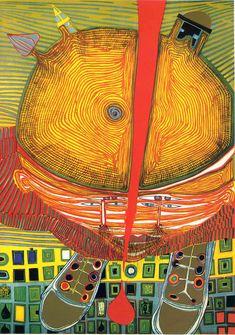 Hundertwasser art - ArTist and ArT - Modern Art, Contemporary Art, Friedensreich Hundertwasser, Art Pictures, Photos, Art Images, Art Brut, Outsider Art, Illustrations