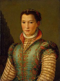 Alessandro Allori - Portrait of Eleanor of Toledo. Part 1 Hermitage, Saint Petersburg.