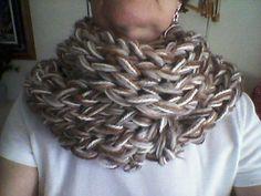 4 strand infinity scarf on 2 Zippy looms