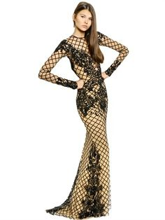 Beaded Silk Long Dress on shopstyle.com