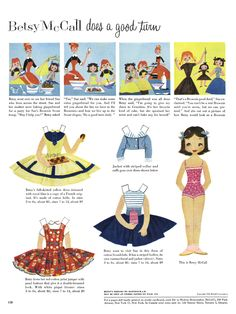 Betsy McCall Paper Dolls the first ten years - This one is from February 1956