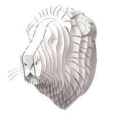 Giant Leon Lion Trophy White, $150, now featured on Fab.