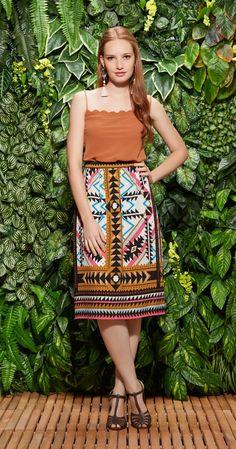 Saia Midi Africana | Lookbook | Antix Store