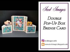 Double Pop-Up Box Bridge Fold Card Tutorial. Card Making Tutorials, Card Making Techniques, Fancy Fold Cards, Folded Cards, Center Step Cards, Box Cards Tutorial, Bridge Card, Pop Up Box Cards, Interactive Cards