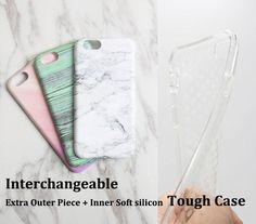 NEW Marble white iPhone 76s PlusSE5 & Samsung Galaxy