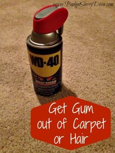 how to get wd40 stain out of carpet