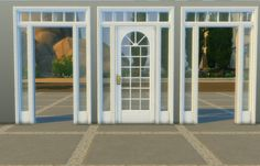 Lana CC Finds - Lattice Door and Arch by AdonisPluto (Sims 4) This...