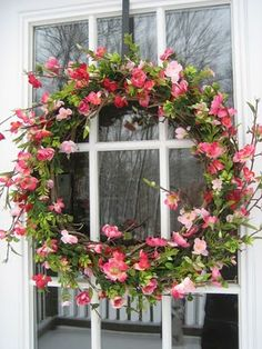 Spring decor for room your home decoration Lovely Spring Door Wreath. Spring Door Wreaths, Summer Wreath, Wreaths For Front Door, Winter Wreaths, Holiday Wreaths, Wreath Crafts, Diy Wreath, Grapevine Wreath, Wreath Ideas