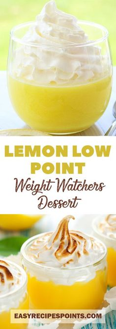 Lemon Low point Weight Watchers Dessert