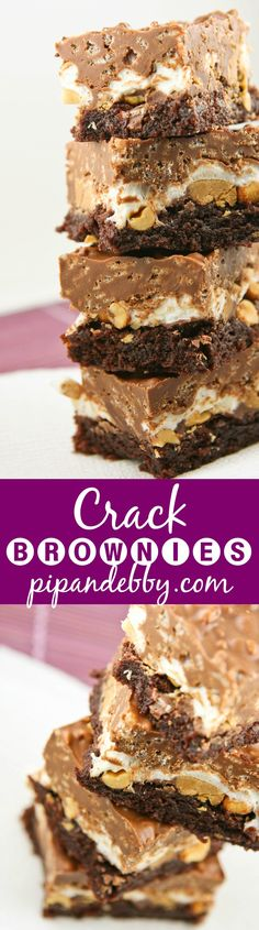 Crack Brownies | The brownies are THE BEST. They are a huge hit at parties and with kids (and adults). They are irresistible!