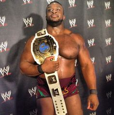 first official photo of big e langston as the new intercontinental champion!