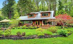 Barátságos, otthonos, természetes ház - a kert és belső terek harmóniája