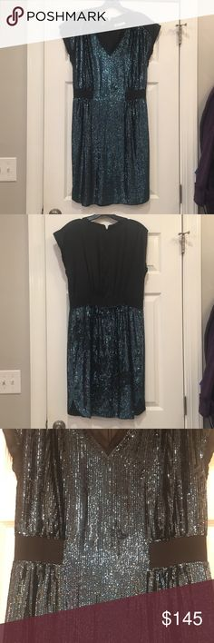 Teal Sequin Cocktail Dress-worn only one time! great dress for a holiday party or special occasion! Rebecca Taylor Dresses