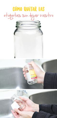 Te comparto mi secreto para quitar las etiquetas de los envases de plástico o vidrio sin que queden rastros de pegamento.