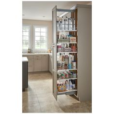 Rev-A-Shelf 5300 Series 16 Inch by 74 Inch Tall Two Tier Pull Out Pantry Maple Tall Cabinet Organizers Pull Out Pantry Organizers Pull Out Slide Out Pantry, Hidden Pantry, Pull Out Pantry Shelves, Tiny Pantry, Walk In Pantry, Rev A Shelf, Wood Cabinets, Kitchen Cabinets, Kitchen Pantry Doors
