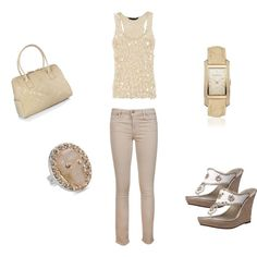 Nude, created by courtneybreen on Polyvore