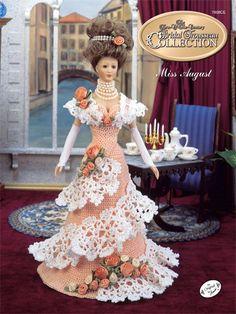 Crochet - Doll Patterns - Bed Doll Patterns - Bridal Trousseau Miss August