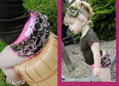 Must have for my girls...camo bloomers! Plus I am loving the camo flower headband! :)