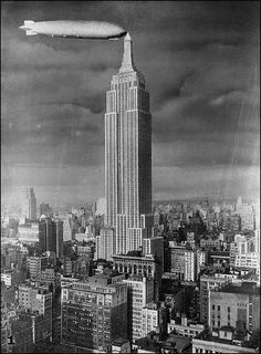 The top of the Empire State Building features a blimp dock.