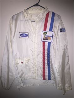 ab60e5e970ac37 Vintage 70 s Ford USA Nylon Racing Jacket - Size Large