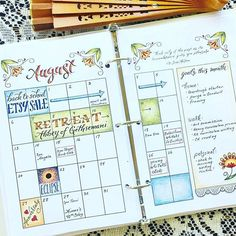 If you're not already a follower of @jtraftonart you are truly missing out. She is an extraordinarily talented artist. Check her out. And she's having a sale on Etsy!!@jtraftonart ・・・ The August spread from my Jane Austen bullet journal set. #zenofplanning #showmeyourplanner