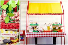Fruit stand party table