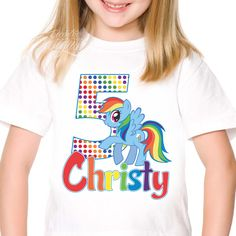 My Little Pony - Iron-on Tshirt Transfer (Birthday Party Shirt) / Children Party Ideas / Children Party Themes / Kid Party Ideas / DIY Party Ideas / Birthday Shirt / Birthday Shirt Ideas / Birthday Shirt DIY / Tshirt DIY / Tshirt Transfer DIY Ideas / Birthday Shirt For Girls