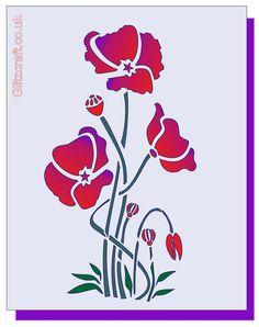 Poppy Trio Stencil – Glitzcraft