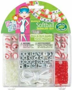 Cousin 29690 Bead Girl Sports Softball Jewelry Kit by Cousin. $6.64. Includes glow-in-the-dark beads. This bead girl sports jewelry kit has themed embellishments. Look for the other cool sports kits too like tennis, soccer and volleyball. Features enough cord hooks and beads to make 2 necklaces, 4 bracelets, or 6 charms. This Cousin bead girl sports jewelry kit for softball. This Cousin bead girl sports jewelry kit for softball. This bead girl sports jewelry kit has themed ...