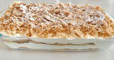 Για το μιλφέιγ 2 πακέτα σφολιατίνια, μια γιώτης στιγμής κρέμα βανίλια, 300 γρ.κρέμα γάλακτος. Φτιάχνουμε την κρέμα γιώτης σύμφωνα... Greek Desserts, Party Desserts, Greek Recipes, Candy Recipes, Dessert Recipes, Jam Tarts, Cake Cookies, Vanilla Cake, Fudge