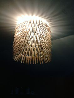 Clothes Pin Chandelier  Light  Clothes Pins Lamp by TheCleanHippie, $45.00