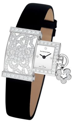 Diamond Watches Collection : Van Cleef & Arpels Secret dentelle - Watches Topia - Watches: Best Lists, Trends & the Latest Styles Van Cleef Arpels, High Jewelry, Jewelry Accessories, Jewelry Box, Jewelry Rings, Bijoux Art Deco, Beautiful Watches, Amazing Watches, Schmuck Design