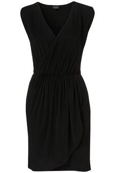 Sleeveless Drape Front Dress - Topshop
