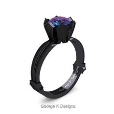 Classic Armenian 14K Black Gold 1.0 Ct Alexandrite by artmasters