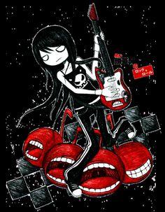 demiseman ♥ Emo Pictures, Creepy Pictures, Emo Art, Goth Art, Dark Drawings, Cartoon Drawings, Illustrations, Illustration Art, Arte Emo