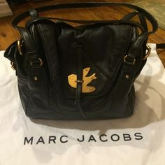 Marc Jacobs Petal to the Metal Sookie shoulder bag Such a cute bag! It just deserves someone who will use it more often. Very good condition--only flaws are some slight wear around the magnet closure (which is hidden under the front flap) and a tiny bit of wear on one side buckle--just looks like it was rubbed against a white wall or something--not at all noticeable unless you're inspecting the bag from six inches away like I am! Clean interior and bottom. Straps in excellent condition…