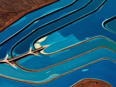 The Blues Photograph by Jassen Todorov  Aerial picture of an evaporation pond in Utah