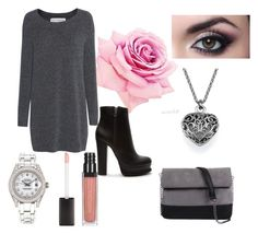 """""""Untitled #15"""" by neska22 ❤ liked on Polyvore featuring Fine Collection, Forever 21, 7 Chi and Rolex"""